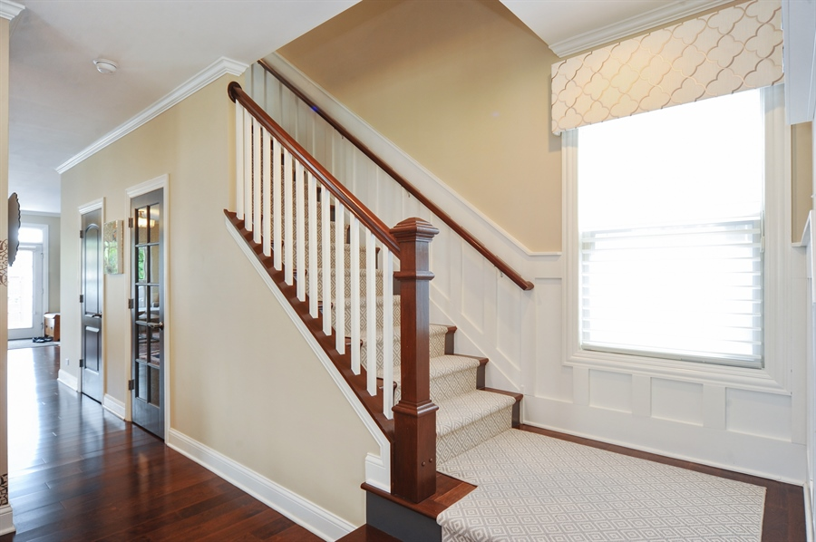Real Estate Photography - 2528 Violet St, Glenview, IL, 60026 - Staircase