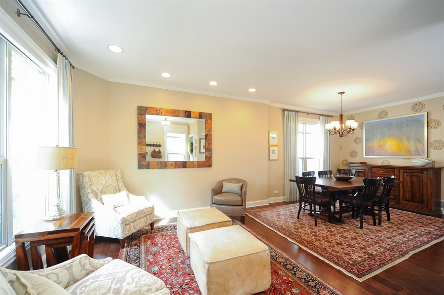Real Estate Photography - 2528 Violet St, Glenview, IL, 60026 - Living Room / Dining Room