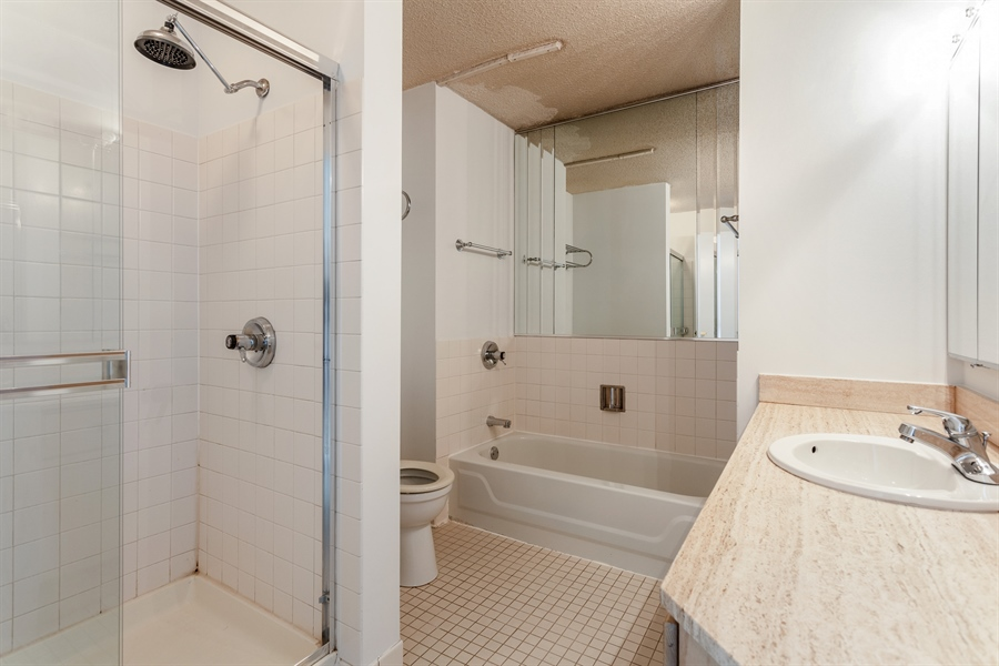 Real Estate Photography - 195 N Harbor Dr, 503, Chicago, IL, 60601 - Master Bathroom