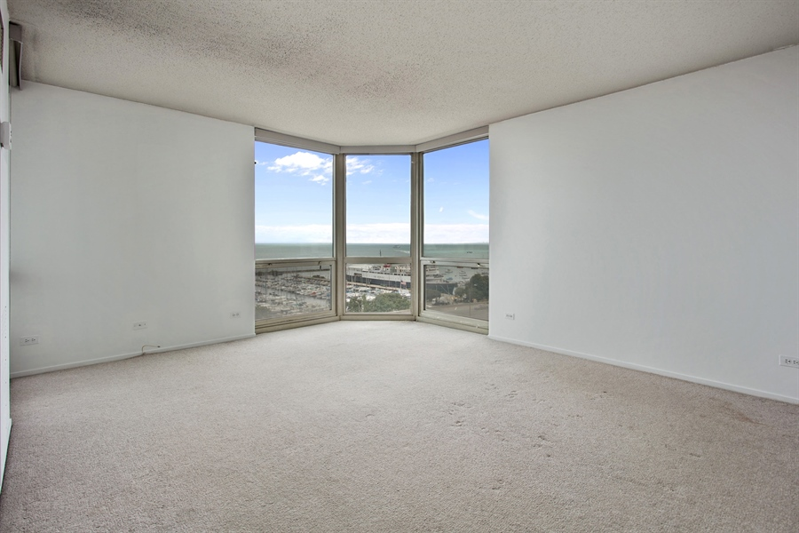 Real Estate Photography - 195 N Harbor Dr, 503, Chicago, IL, 60601 - Master Bedroom