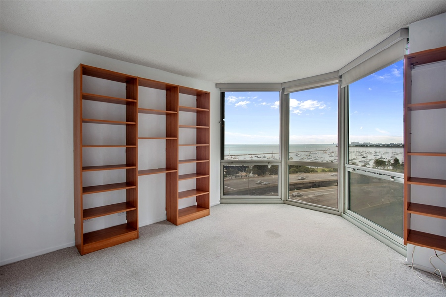 Real Estate Photography - 195 N Harbor Dr, 503, Chicago, IL, 60601 - Bedroom