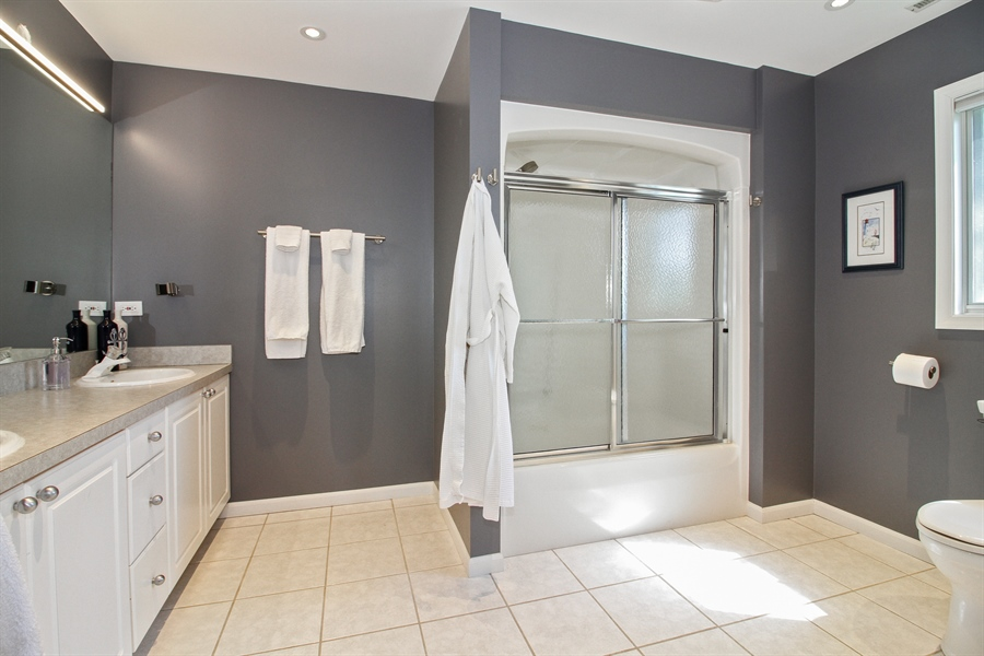 Real Estate Photography - 223 High St., Fontana, WI, 53125 - Master Bathroom