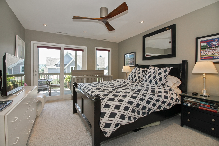 Real Estate Photography - 223 High St., Fontana, WI, 53125 - Master Bedroom