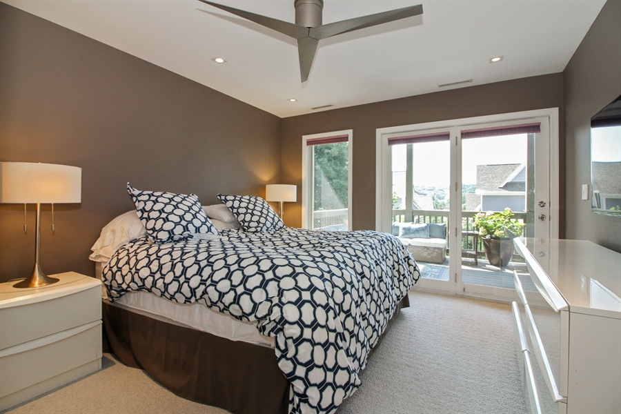 Real Estate Photography - 223 High St., Fontana, WI, 53125 - Guest Bedroom
