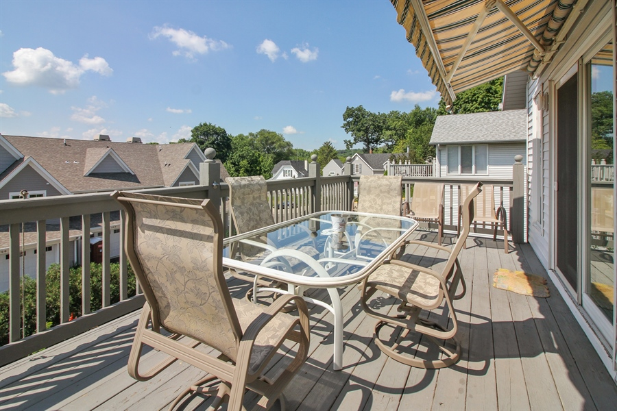 Real Estate Photography - 223 High St., Fontana, WI, 53125 - Deck