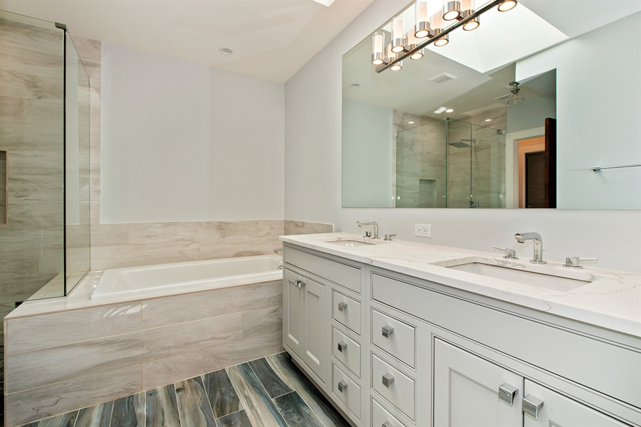 Real Estate Photography - 4028 N. Maplewood, Chicago, IL, 60618 - Master Bathroom