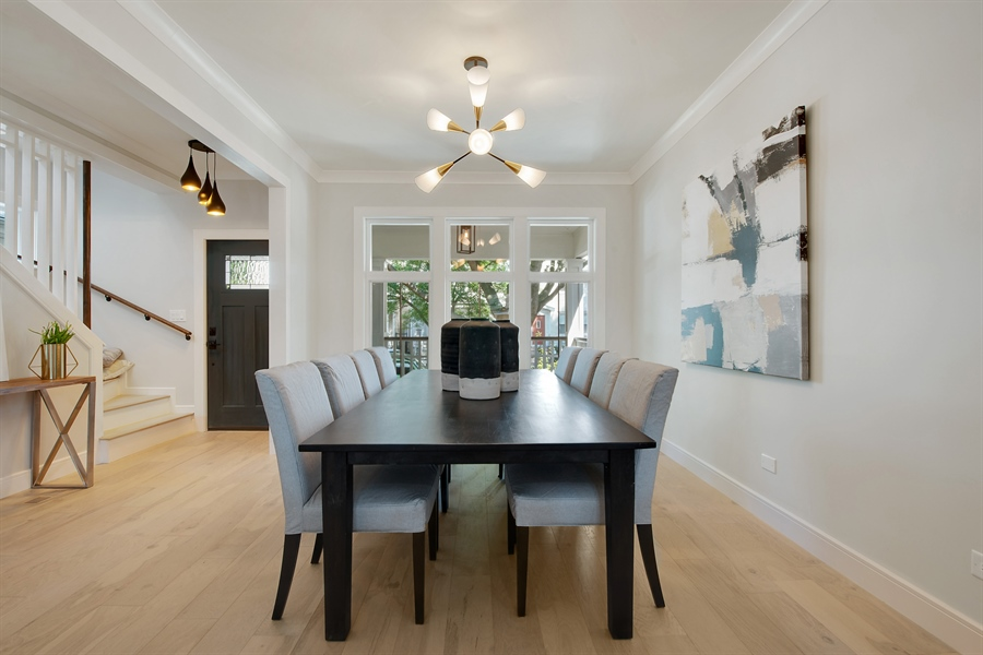 Real Estate Photography - 4028 N. Maplewood, Chicago, IL, 60618 - Dining Room