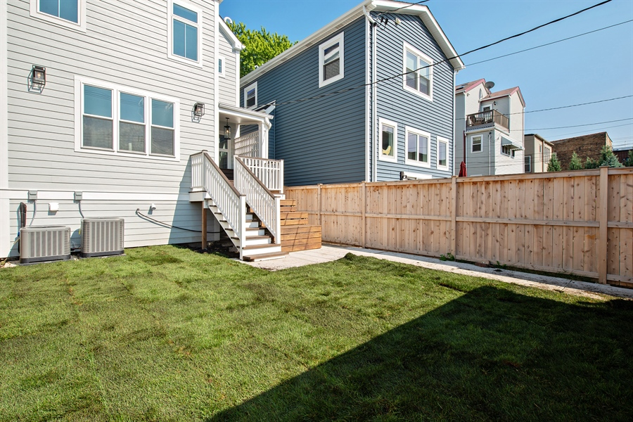 Real Estate Photography - 4028 N. Maplewood, Chicago, IL, 60618 - Back Yard