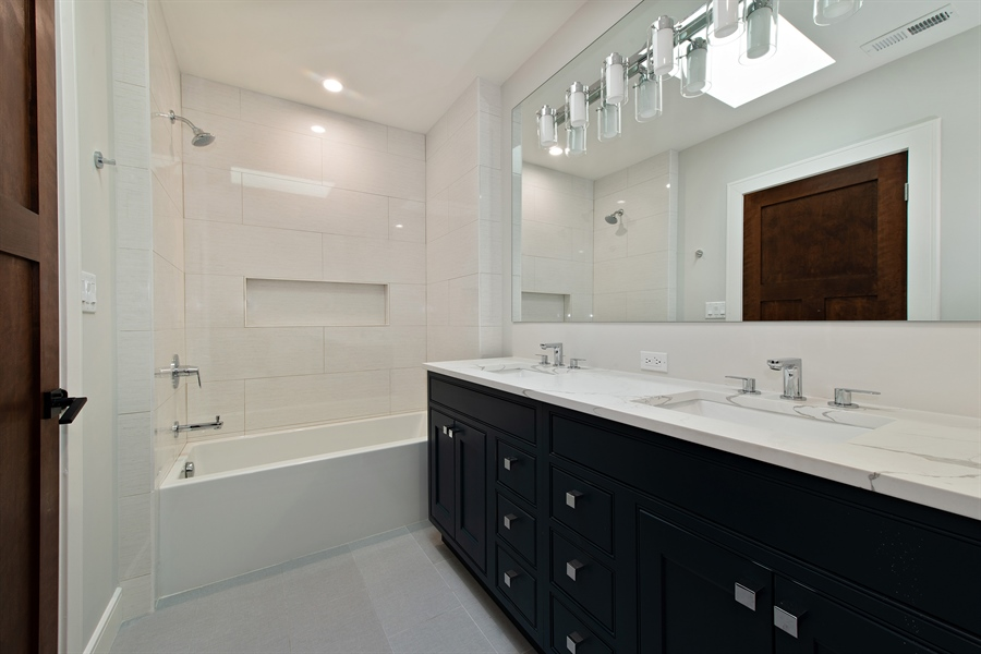 Real Estate Photography - 4028 N. Maplewood, Chicago, IL, 60618 - 2nd Bathroom