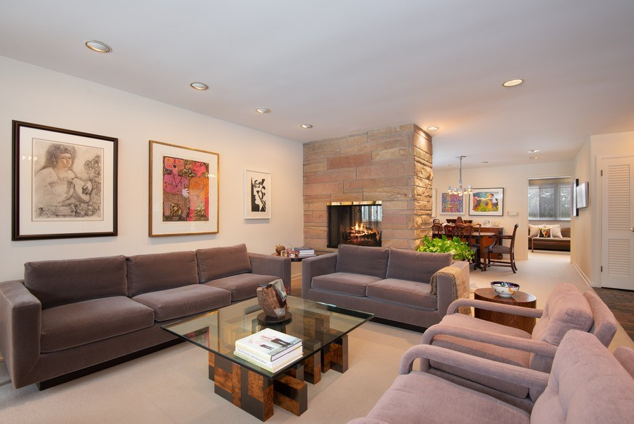 Real Estate Photography - 925 Sheridan Rd, Evanston, IL, 60202 - Living Room / Dining Room