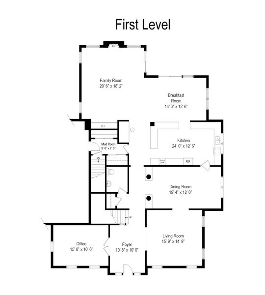 Real Estate Photography - 1471 Kittyhawk Ln, Glenview, IL, 60026 - Floor Plan