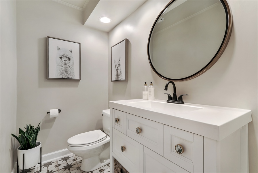 Real Estate Photography - 20730 W Exeter Rd, Kildeer, IL, 60047 - Powder Room