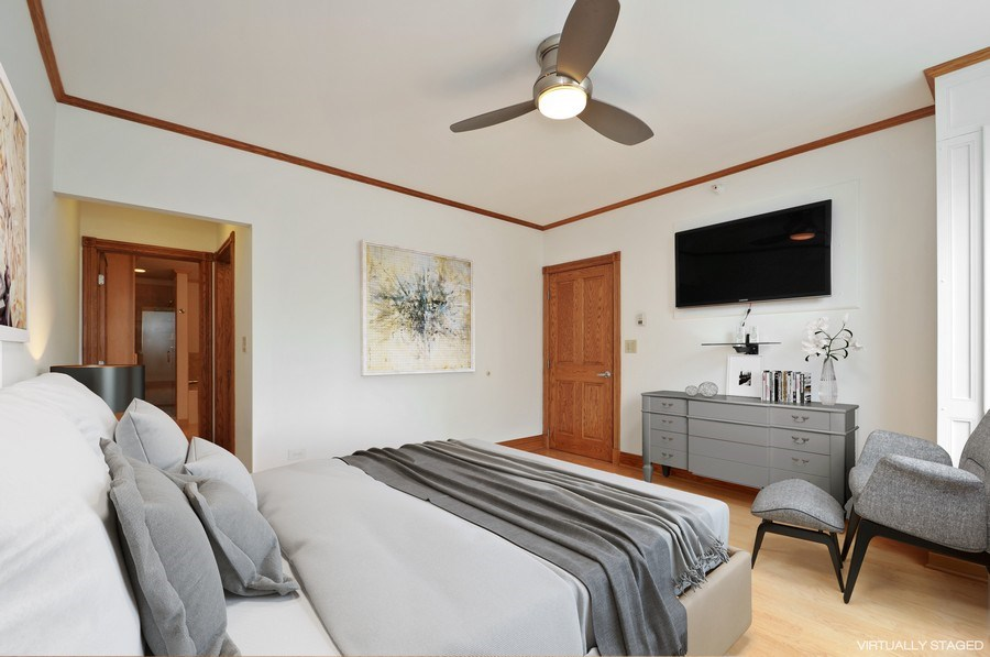 Real Estate Photography - 21 W Chestnut Street, unit 1102, Chicago, IL, 60610 - Master Bedroom