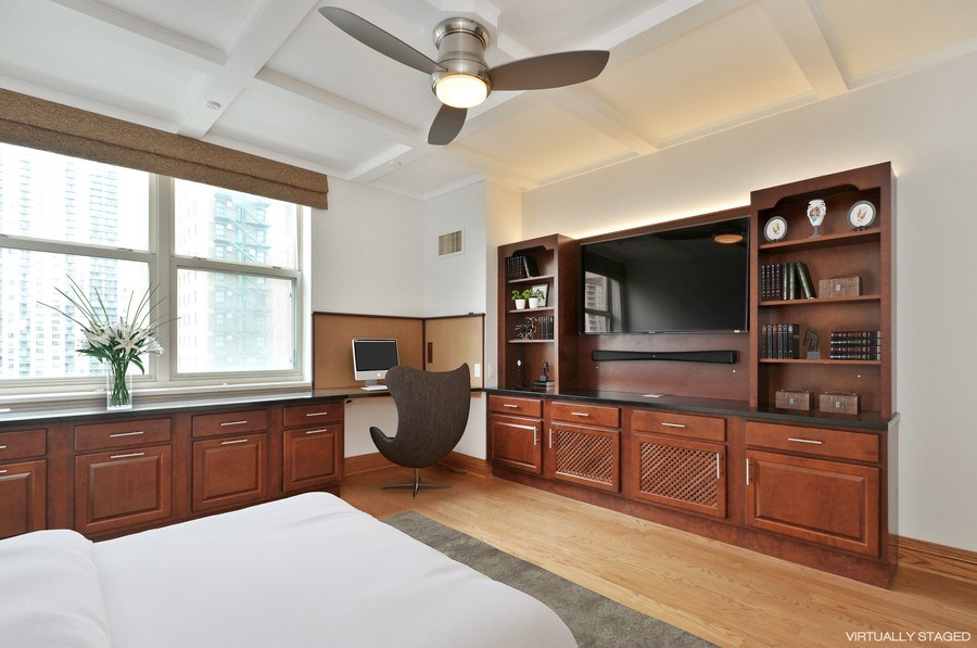 Real Estate Photography - 21 W Chestnut Street, unit 1102, Chicago, IL, 60610 - 2nd Bedroom