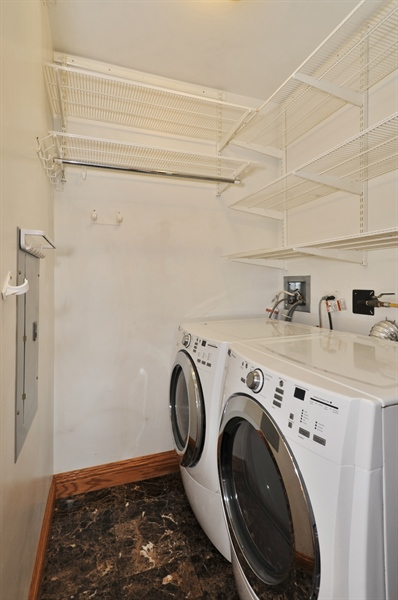 Real Estate Photography - 21 W Chestnut Street, unit 1102, Chicago, IL, 60610 - Laundry Room