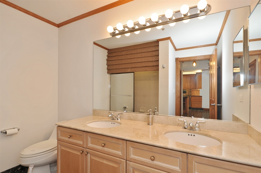 Real Estate Photography - 21 W Chestnut Street, unit 1102, Chicago, IL, 60610 - 2nd Bathroom