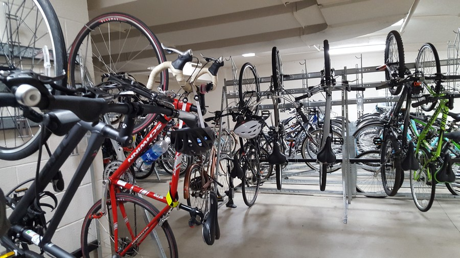 Real Estate Photography - 21 W Chestnut Street, unit 1102, Chicago, IL, 60610 - Bike Room