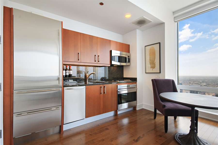 Real Estate Photography - 401 N Wabash, Unit 77C, Chicago, IL, 60611 - Kitchen