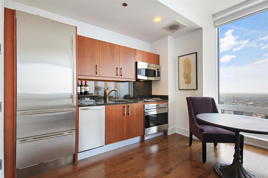 Real Estate Photography - 401 N Wabash, Unit 77C, Chicago, IL, 60611 - Kitchen