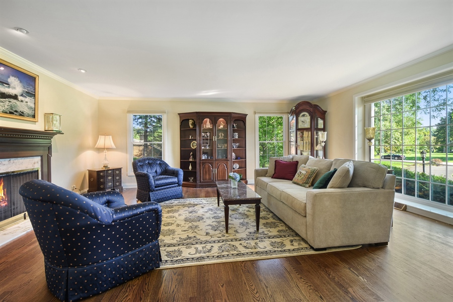 Real Estate Photography - 544 Rob Roy Court, Inverness, IL, 60067 - Living Room