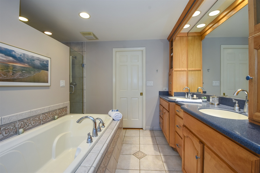 Real Estate Photography - 544 Rob Roy Court, Inverness, IL, 60067 - Master Bathroom