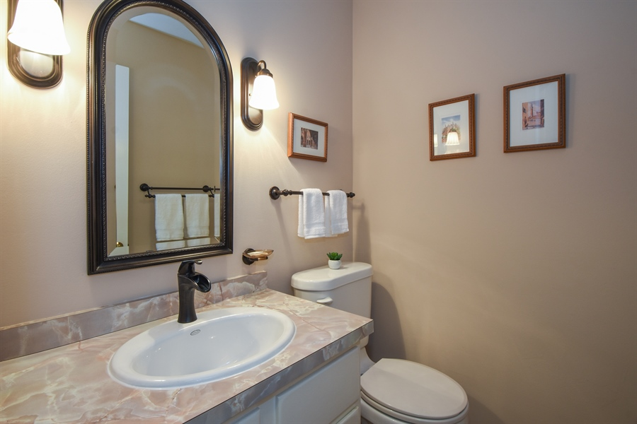 Real Estate Photography - 544 Rob Roy Court, Inverness, IL, 60067 - Half Bath