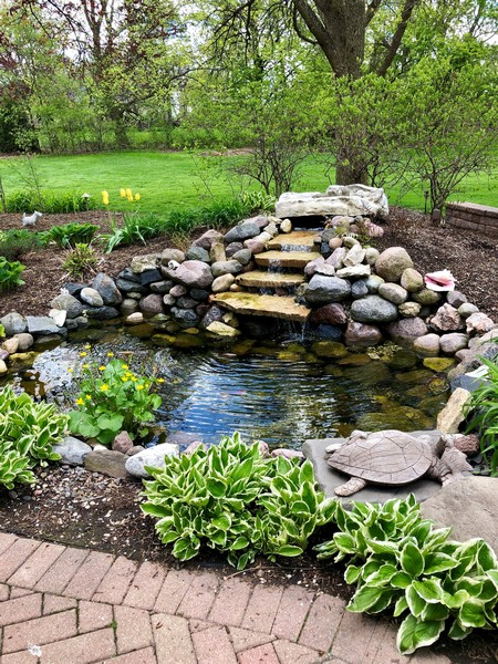 Real Estate Photography - 544 Rob Roy Court, Inverness, IL, 60067 - Koi Pond