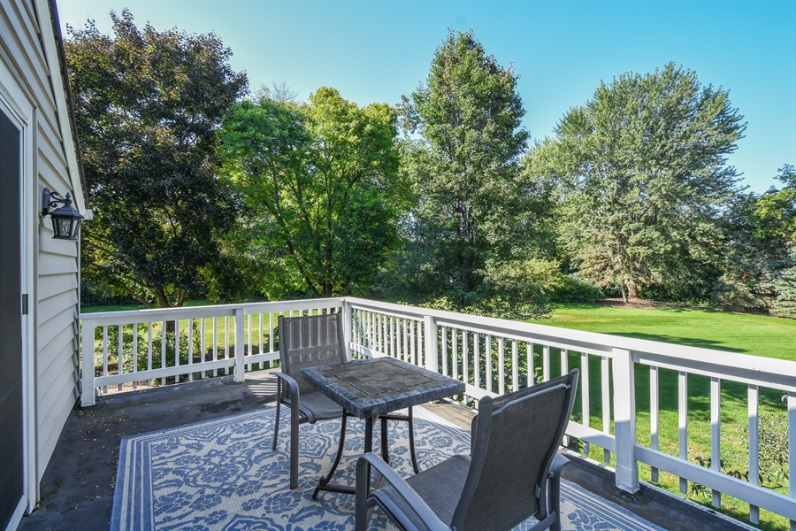 Real Estate Photography - 544 Rob Roy Court, Inverness, IL, 60067 - Balcony