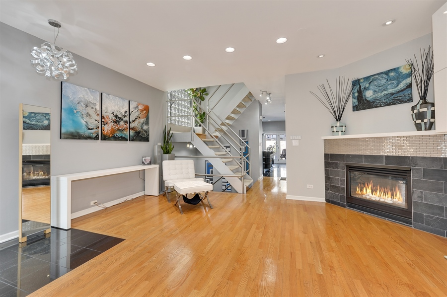 Real Estate Photography - 2334 W. McLean, Chicago, IL, 60647 - Living Room