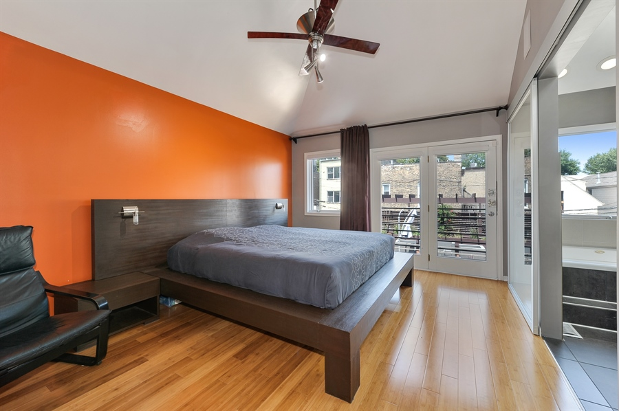 Real Estate Photography - 2334 W. McLean, Chicago, IL, 60647 - Master Bedroom