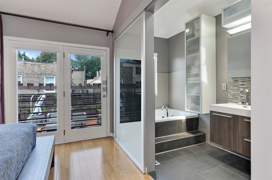 Real Estate Photography - 2334 W. McLean, Chicago, IL, 60647 - Master Bathroom