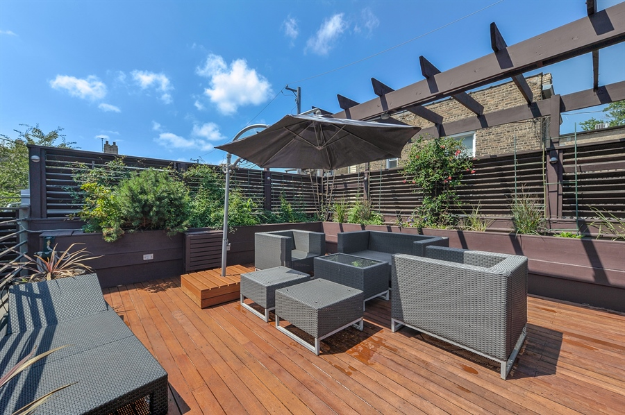 Real Estate Photography - 2334 W. McLean, Chicago, IL, 60647 - Roof Deck