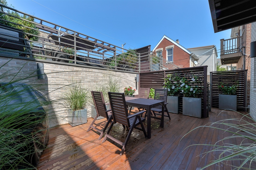 Real Estate Photography - 2334 W. McLean, Chicago, IL, 60647 - Deck