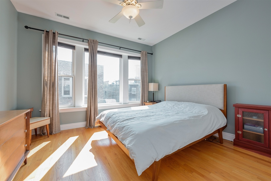 Real Estate Photography - 7021 N. Greenview, 3S, Chicago, IL, 60626 - Master Bedroom