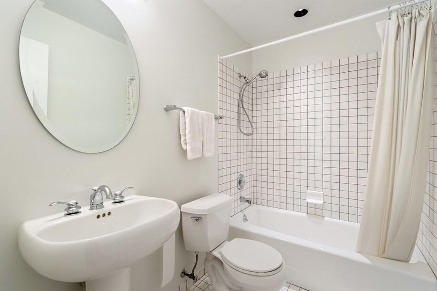 Real Estate Photography - 1445 N Cleveland, Unit A, Chicago, IL, 60610 - 3rd Bathroom