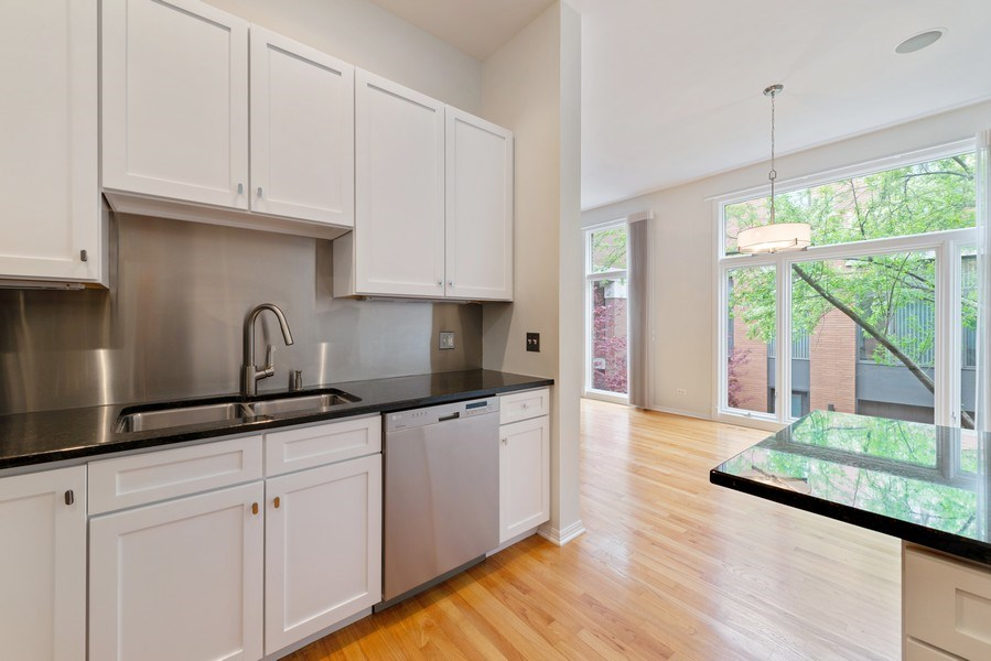 Real Estate Photography - 1445 N Cleveland, Unit A, Chicago, IL, 60610 - Kitchen