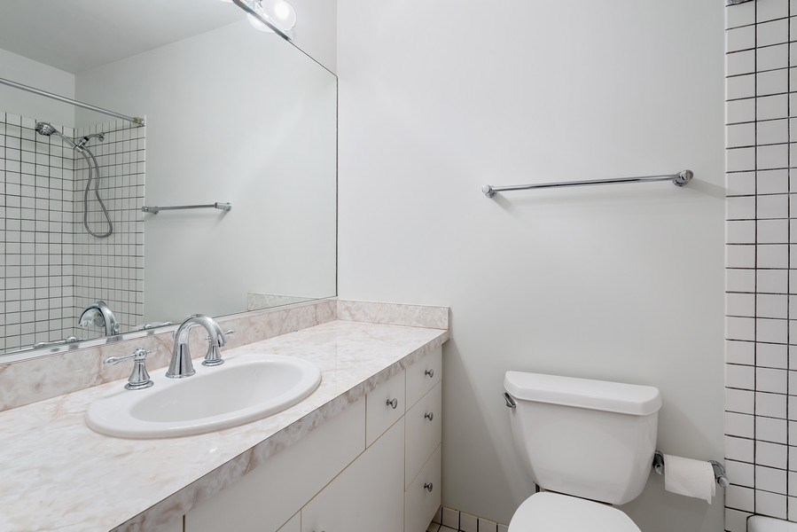 Real Estate Photography - 1445 N Cleveland, Unit A, Chicago, IL, 60610 - 2nd Bathroom