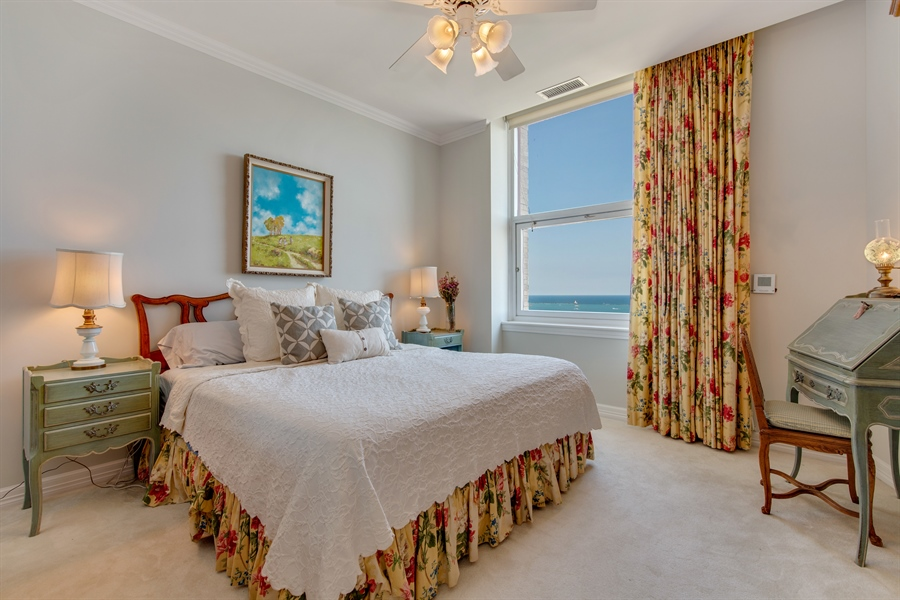 Real Estate Photography - 330 S Michigan Ave, Unit 1906, Chicago, IL, 60604 - Master Bedroom