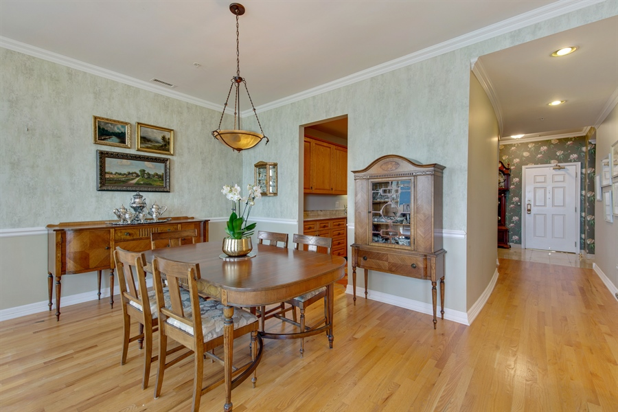 Real Estate Photography - 330 S Michigan Ave, Unit 1906, Chicago, IL, 60604 - Dining Room