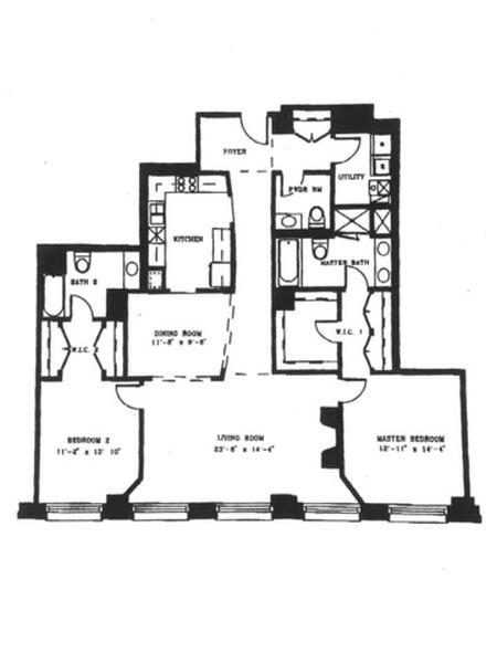 Real Estate Photography - 330 S Michigan Ave, Unit 1906, Chicago, IL, 60604 -