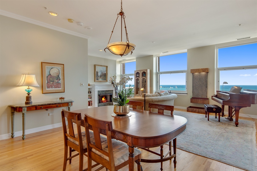 Real Estate Photography - 330 S Michigan Ave, Unit 1906, Chicago, IL, 60604 - Living Room / Dining Room