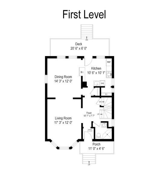 Real Estate Photography - 1753 W Devon, Chicago, IL, 60660 - Floor Plan