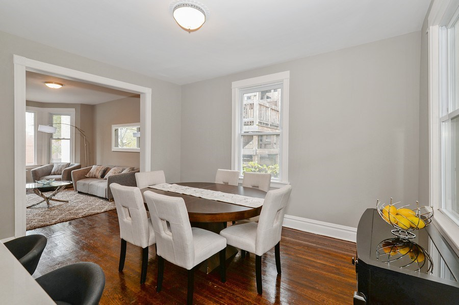Real Estate Photography - 1753 W Devon, Chicago, IL, 60660 - Living Room/Dining Room