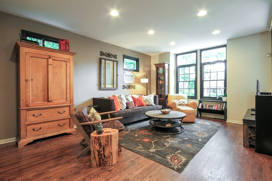 Real Estate Photography - 2028 N. Wolcott, Chicago, IL, 60614 - Living Room