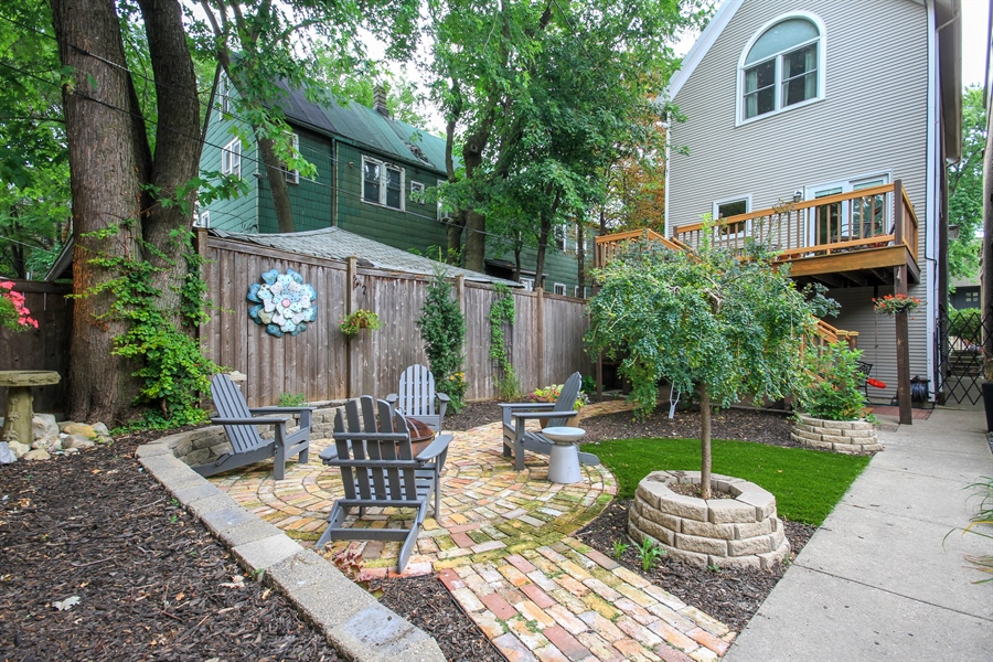 Real Estate Photography - 2028 N. Wolcott, Chicago, IL, 60614 - Back Yard