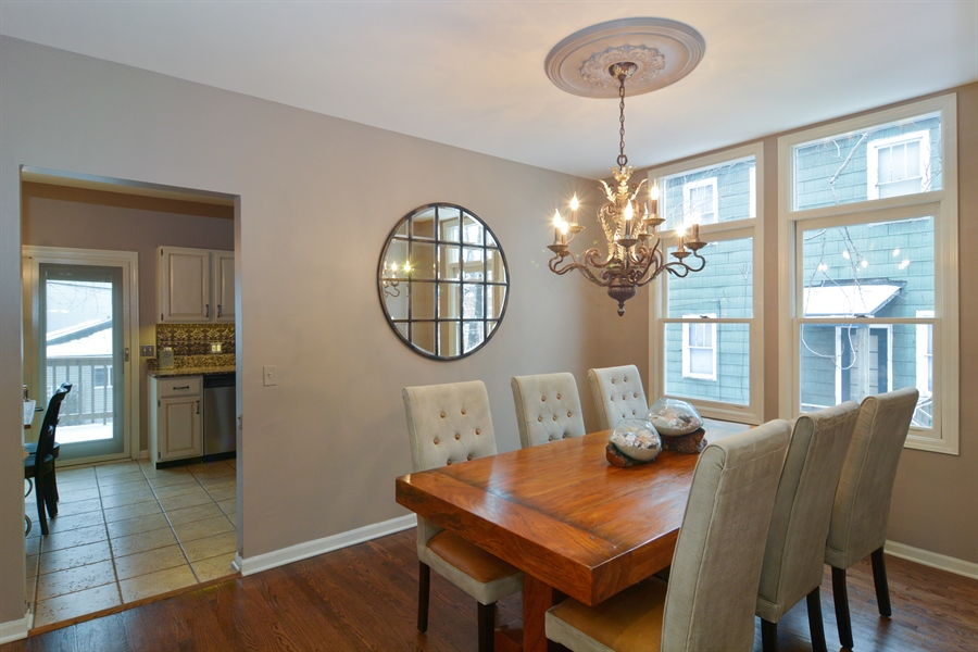 Real Estate Photography - 2028 N. Wolcott, Chicago, IL, 60614 - Dining Room
