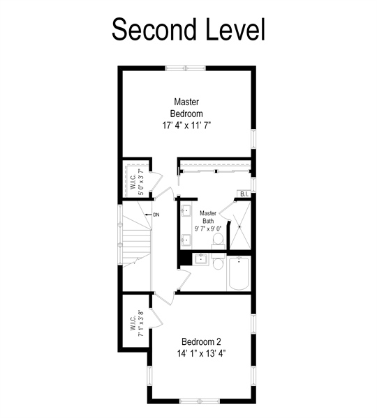 Real Estate Photography - 2028 N. Wolcott, Chicago, IL, 60614 - Floor Plan