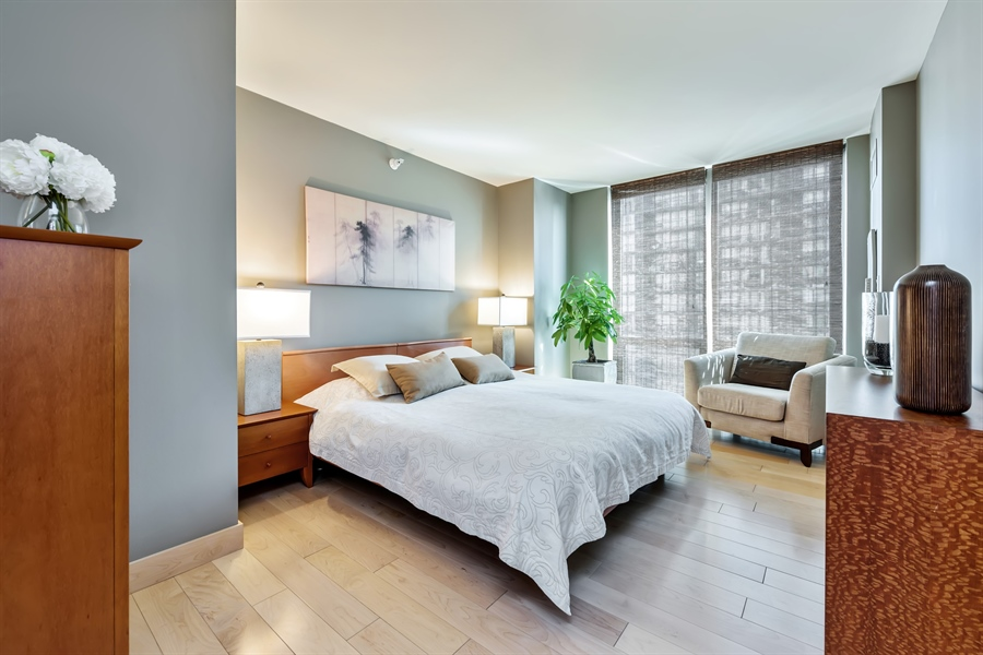 Real Estate Photography - 2 E Erie, 3005, Chicago, IL, 60611 - Master Bedroom