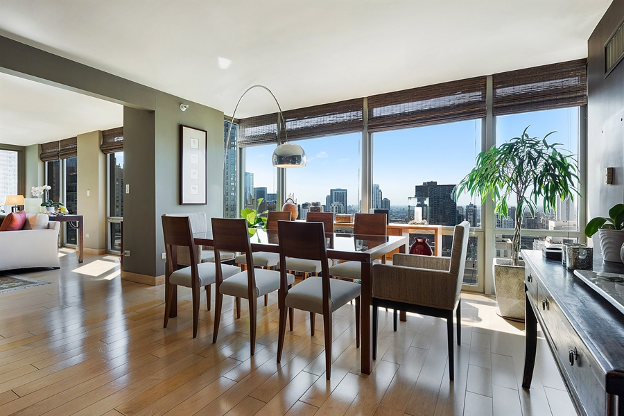 Real Estate Photography - 2 E Erie, 3005, Chicago, IL, 60611 - Dining Room