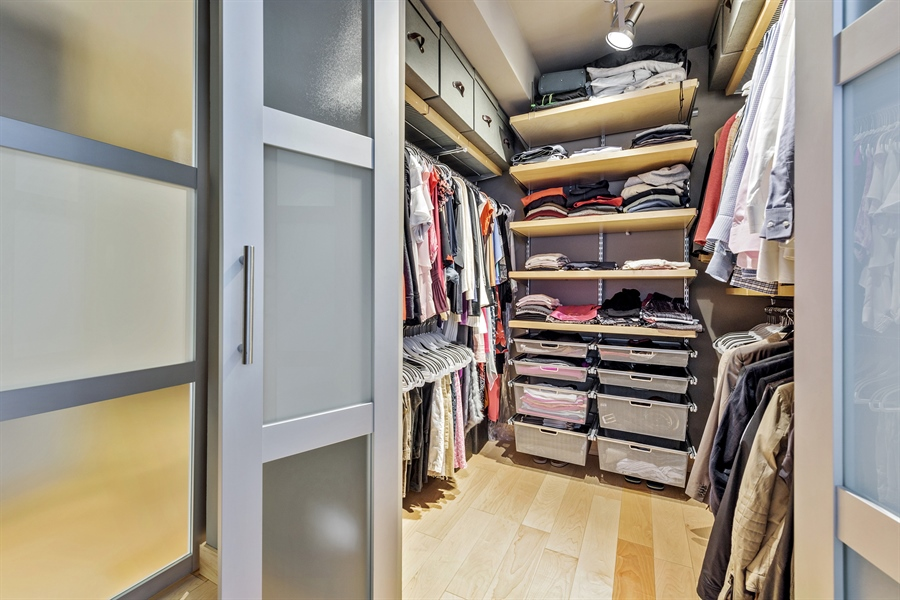 Real Estate Photography - 2 E Erie, 3005, Chicago, IL, 60611 - Master Bedroom Closet